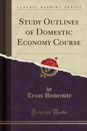 Study Outlines of Domestic Economy Course (Classic Reprint), University Texas