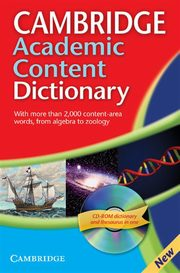 Cambridge Academic Content Dictionary Reference Book + CD,