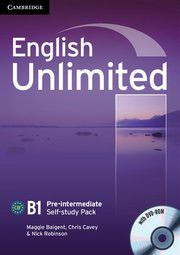 English Unlimited Pre-intermediate Self-study Pack Workbook + DVD, Baigent Maggie, Cavey Chris, Robinson Nick