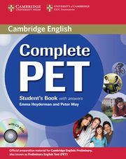 Complete PET Student's Book with answers + CD, Heyderman Emma, May Peter