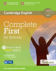 Complete First for Schools Student's Book without answers + Testbank + CD, Brook-Hart Guy, Tiliouine Helen