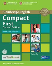 Compact First Student's Book with Answers + CD with Testbank, May Peter