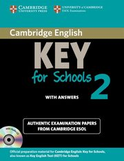 Cambridge English Key for Schools 2 Self-study Pack (Student's Book with Answers and Audio CD),