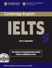 Cambridge IELTS 9 Authentic Examinatin Papers with answers + 2CD,