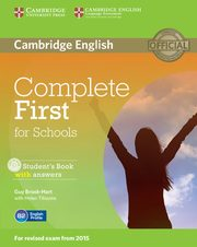 Complete First for Schools Student's Book with answers + CD, Brook-Hart Guy, Tiliouine Helen