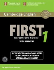 Cambridge English First 1 Authentic examination papers with answers + 2CD,
