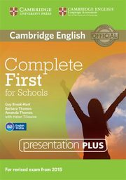 Complete First for Schools Presentation Plus DVD-ROM, Brook-Hart Guy, Thomas Barbara, Thomas Amanda, Tiliouine Helen