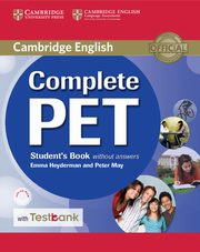 Complete PET Student's Book without Answers with CD-ROM and Testbank, Heyderman Emma, May Peter