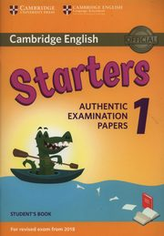 Cambridge English Starters 1 Student's Book Authentic Examination Papers,