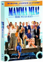 ksiazka tytuł: Mamma Mia Here We Go Again DVD+booklet autor: Meryl Streep, Lily James, Pierce Brosnan